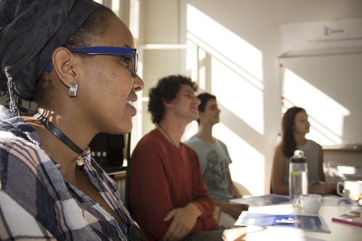 Students at Kiron Offices