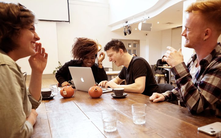 M19 students laughing at table.jpg
