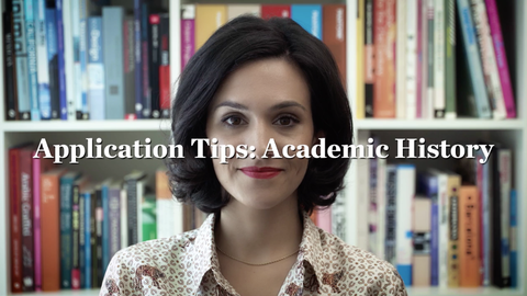 Application Tips: Academic History