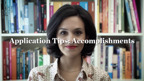 Application Tips: Accomplishments